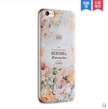 iPhone 6/6S 4.7 Embellished Totem Flower Retro Silicone Case - JandJCases