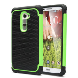 LG G2 / D802 PLUS SHOCKPROOF RUGGED BOX CASE COVER MATTE GREEN - JandJCases