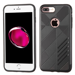 ASMYNA Black/Black Mars Hybrid Protector Cover For iPhone 7 Plus - JandJCases