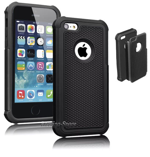 Hybrid Rubberized Defender Hard Case for iPhone 5C in 2 Colors - JandJCases