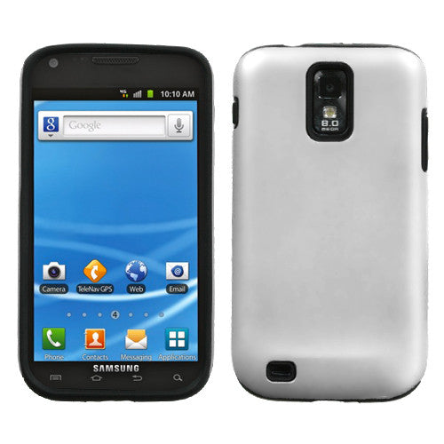 MYBAT White Fusion Protector Cover (Rubberized) For T989 (Galaxy S II)