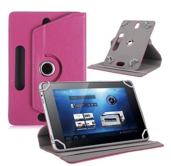 UNIVERSAL TABLET PU LEATHER FOLIO 360 DEGREE ROTATING STAND CASE in 3 Colors