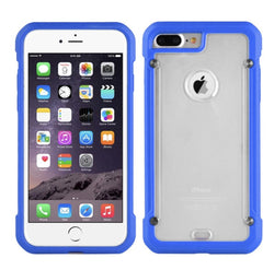 iPhone 7/8 Full Body Hybrid Clear Case in Blue - JAndJCases