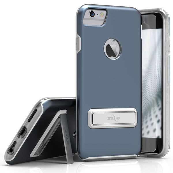 iPhone 7 - Zizo ELITE w/ Magnetic Kickstand, Tempered Glass - Dark Blue