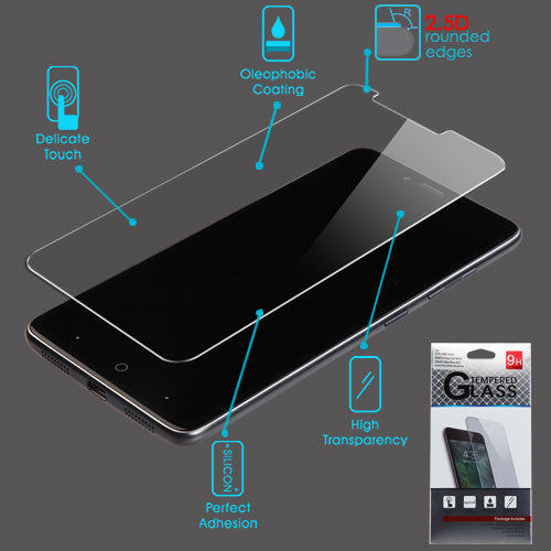 Tempered Glass Screen Protector (2.5D) For ZTE-Z988 (Kirk) Grand X Max2/Z981 (Zmax Pro)