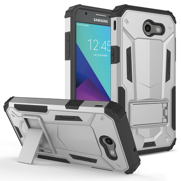 Galaxy J3 Emerge (2017) - Hybrid Transformer Cover w/ Kickstand and UV Coated PC/TPU Layers case