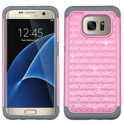 Galaxy S7 Edge Pearl Pink/Gray Case