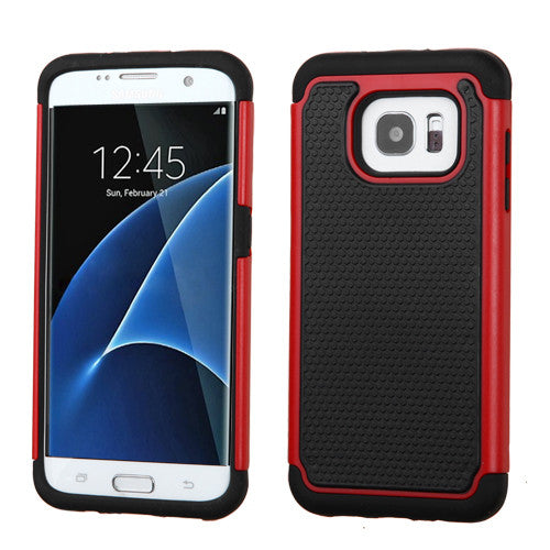Galaxy S7 Edge Red Dots/Black Case