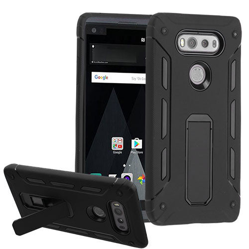 MYBAT Black/Black Hybrid Protector Cover (with Stand) For LG V20