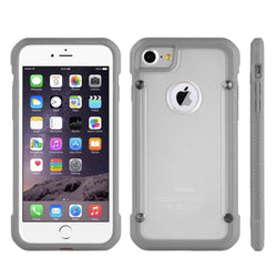 IPHONE 7 FULL BODY HYBRID TRANSPARENT BUMPER CASE - GRAY
