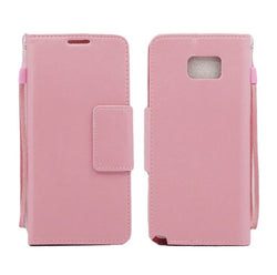 GALAXY NOTE 5 FOLIO LEATHER WALLET CASE - PINK