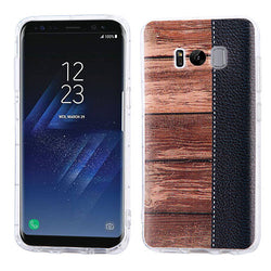 Galaxy S8 Plus Wood Grain Candy Skin Cover