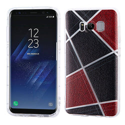 Galaxy S8 Denim Irregular Geometric Design Candy Skin Phone Case - JandJCases