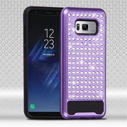 Galaxy S8 ASMYNA Purple/Black Diamante FullStar Protector Cover