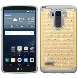 LG G Stylo (LS770) ASMYNA Champagne Gold/Gray FullStar Protector Cover