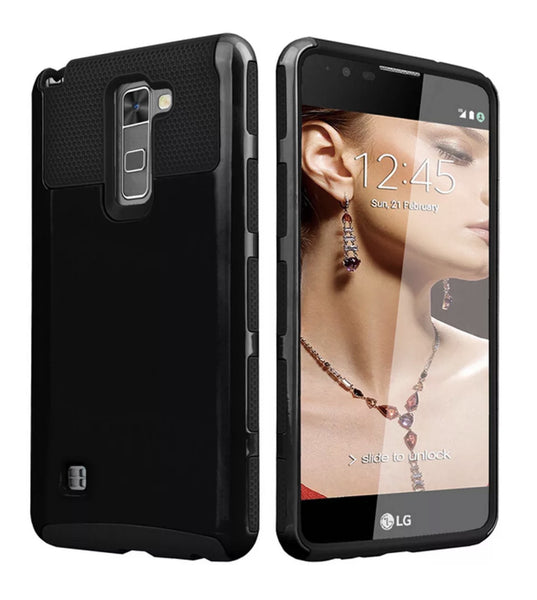 LG G Stylo 2/Stylus 2 Black Shockproof Hybrid Case