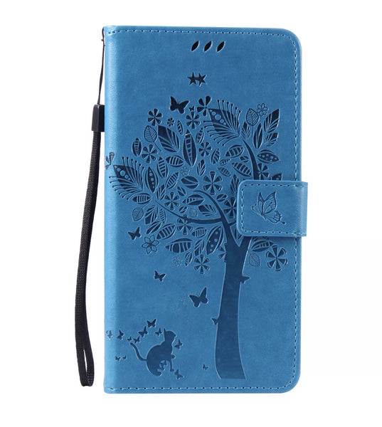 LG G Stylo 2/Stylus 2 Blue Design Premium Flip Leather Wallet Case with Card Slots
