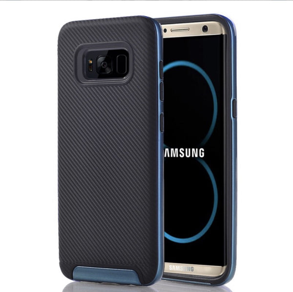 Galaxy S8 Plus/S8 Edge Full Body Hybrid TPU Dual Verus Case - Blue