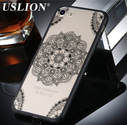 iPhone 7/7 Plus Sexy Lace Flower Fashion Acrylic Phone Case in 2 Colors