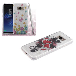 Galaxy S8/S8 Plus ASMYNA Full Glitter Hybrid Protector Cover In 2 Colors