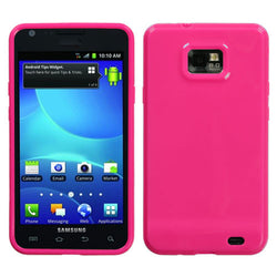 Galaxy SII (i777), MYBAT Solid Hot Pink Candy Skin Cover