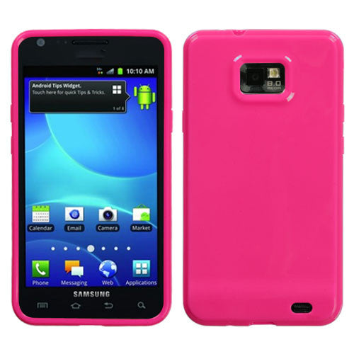 Galaxy SII MYBAT Solid Hot Pink Candy Skin Cover