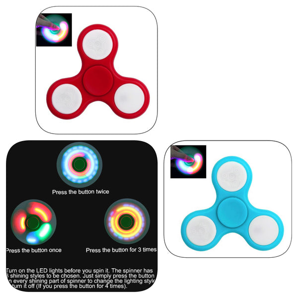 LED Light Fidget Spinners in 2 Colors