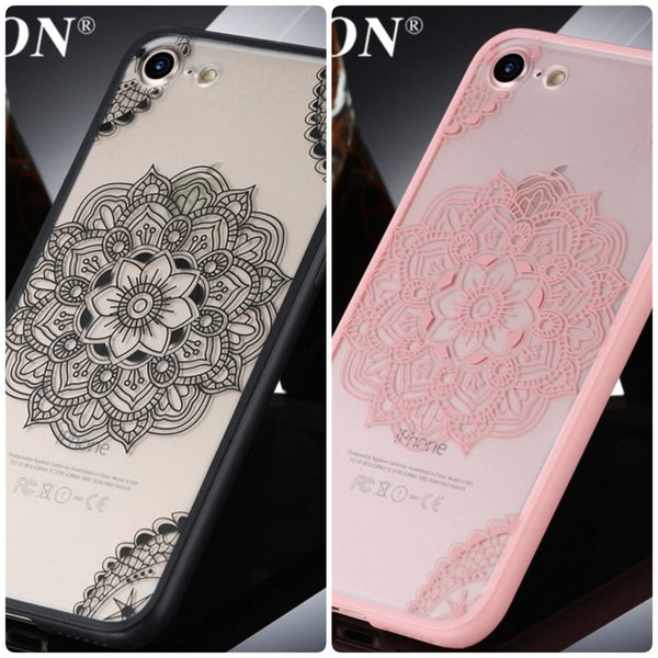 iPhone 7/7 Plus Sexy Lace Flower Fashion Acrylic Phone Case in 2 Colors - JandJCases