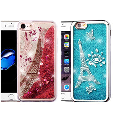 iPhone 7, Quicksand Glitter Hybrid Protector Cover in 2 Colors