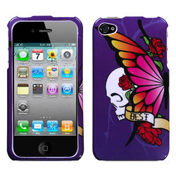 iPhone 4/4S MyBat Phone Case - Best Friend Purple - JandJCases