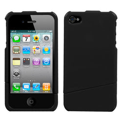 Natural Black Slash Phone Protector Cover for iPhone 4 - JandJCases