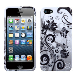 iPhone 5 5S Butterfly Monochrome Phone Protector Cover - JandJCases