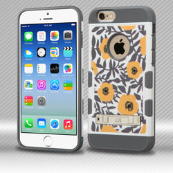 TUFF Trooper iPhone 6/6S 4.7 MyBat Flower Bush in Orange/Iron Gray Hybrid Phone Protector Cover with Stand - JandJCases