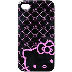 iPhone 4 Hello Kitty Licensed Polycarbonate Phone Case Pink Neon - JandJCases