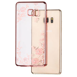 Samsung Galaxy Note 7 Rose Gold Plating/Secret Garden Diamante Premium Candy Skin Cover (with Package) - JandJCases