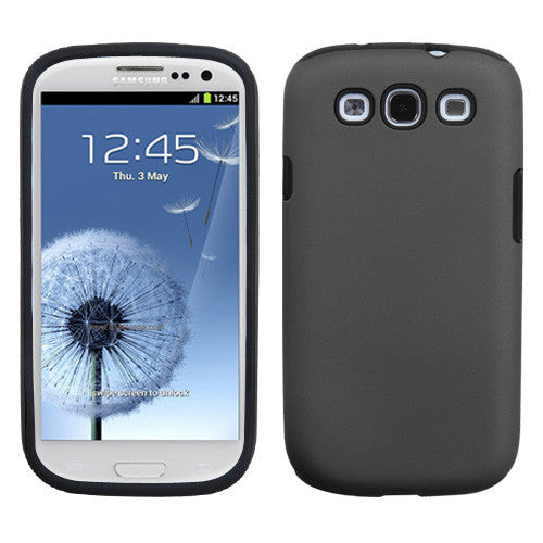 Gray Fusion Protector Cover (Rubberized) for Samsung Galaxy SIII - JandJCases