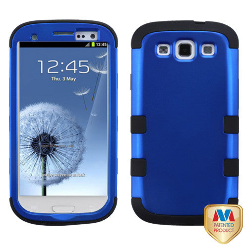 Titanium Dark Blue/Black TUFF Hybrid Phone Protector Cover for Samsung Galaxy S III - JandJCases