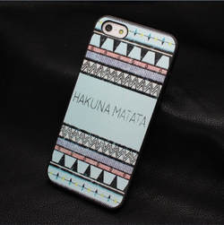 Painted Design (Hakuna Matata) Hard Case for iPhone 4/4S - JandJCases