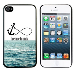 ABC 1 piece Cute Hard Case (I Refuse To Sink) for iPhone 5/5S - JandJCases