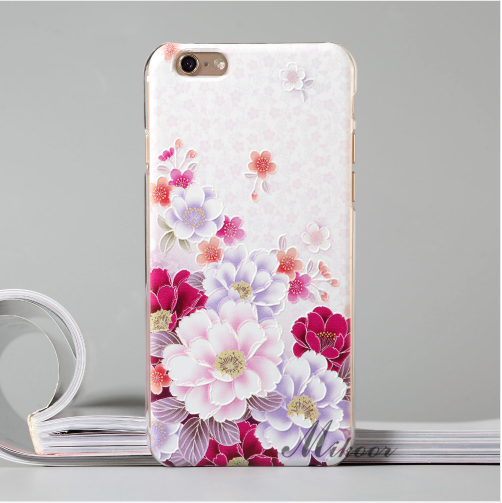 iPhone 6/6S and 6 Plus/6S Plus Painted Floral Design Hard Case - JandJCases