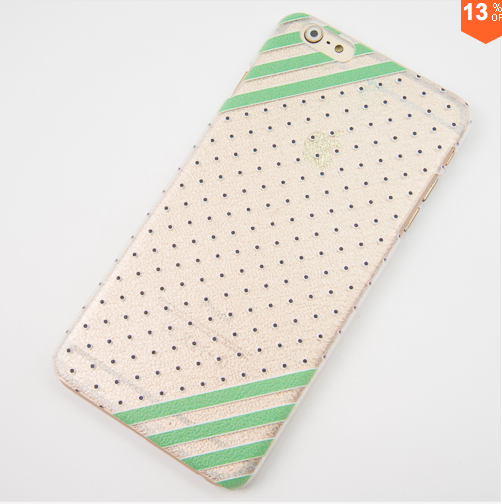 iPhone 6 Plus Dots and Diagonal Lines Hard Slim Phone Case with Screen Protector - JandJCases