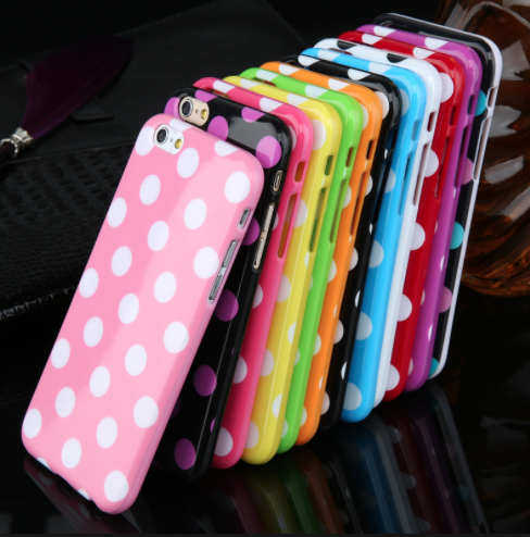 iPhone 6 and 6 Plus Polka Dot Silicone Phone Case (4 Colors) - JandJCases