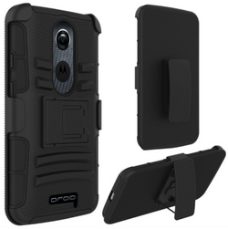 MOTOROLA DROID TURBO 2 / M-X3 ARMOR BELT CLIP HOLSTER CASE COVER BLACK - JandJCases