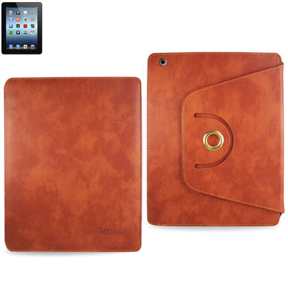 iPad 2 3 4 Fitting Case Trapezoid Clip Case in Orange - JandJCases