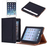 Folio Leather Smartcase in Black for iPad Air 2 - JandJCases