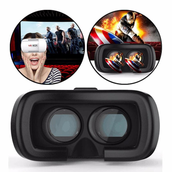 3D Virtual Reality Headset/Video Movie Game Glasses  For 3.5 to 6 inches Phones-White Black - JandJCases