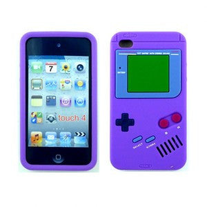 iPod Touch 4 3D Game Console Case in Purple and Blue - JandJCases