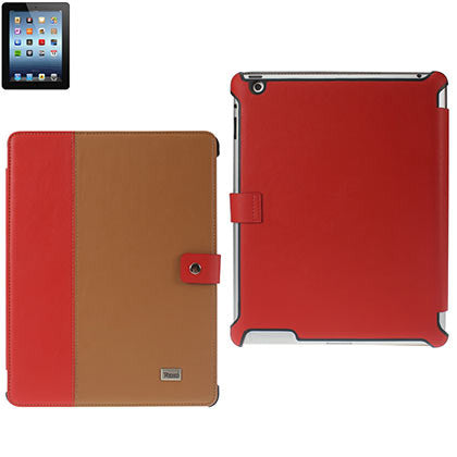 iPad 3 Cow Skin Pattern/Red/Brown Fitting Case - JandJCases