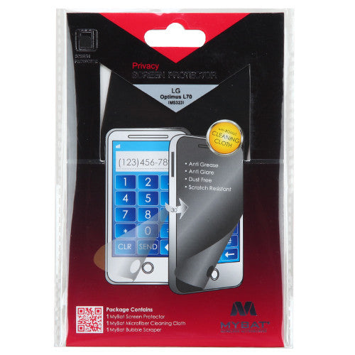 LG Optimus L70 (MS 323), Privacy Screen Protector - JandJCases