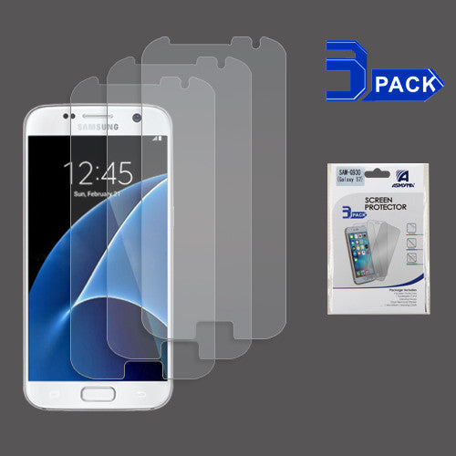ASMYNA Screen Protector (3-pack) (Strong Adhesion & Ultra-thin) For Galaxy S7 - JandJCases